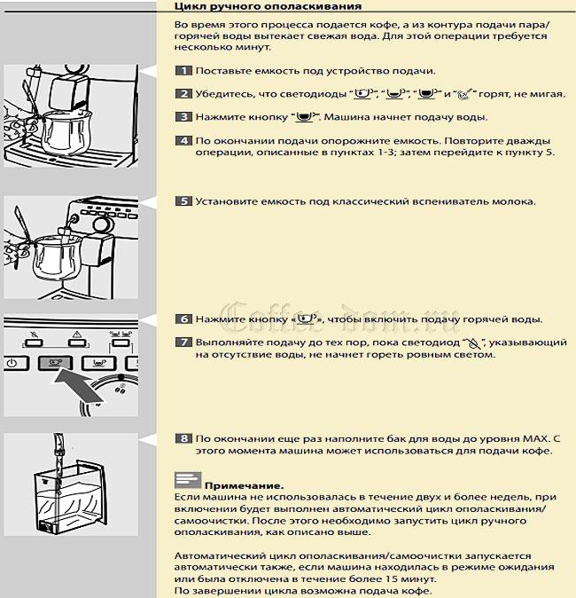 кофемашина Saeco Intuita инструкция - фото 6